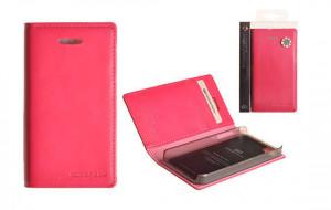 Pouzdro Mercury Goospery Leather Flip Samsung i9505 Galaxy S4 Růžové