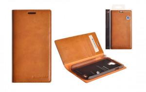 Pouzdro Mercury Goospery Leather Flip Samsung i9505 Galaxy S4 karamel
