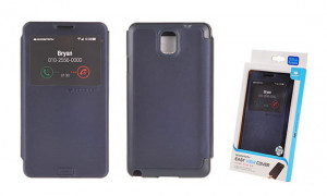 Pouzdro Mercury Easy View Samsung N9005 Galaxy Note 3 tmavomodré