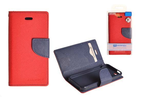 Pouzdro Goospery Mercury Fancy Diary Samsung S7580/S7582 Galaxy Trend Plus a S Duos 2 červ