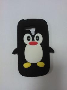 Silikonové pouzdro Pinguin Case pro Samsung i9300/i9301 Galaxy S3 černé