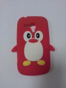 Silikonové pouzdro Pinguin Case pro LG E610 Optimus L5 červené