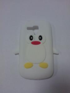 Silikonové pouzdro Pinguin Case pro Samsung i9300/i9301 Galaxy S3 Bílé