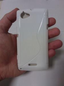 Pouzdro S-Line Case pro Samsung i9505 Galaxy S4 bílé silikonové pouzdro
