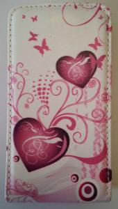 Pouzdro Slim Flip Case 2 Nokia Lumia 520 Pink Heart