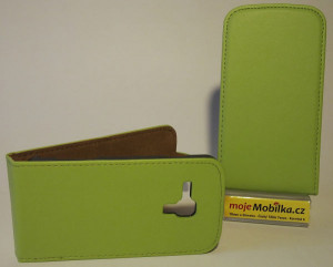 Pouzdro Slim Flip Case 2 Samsung S7560/S7562 zelené