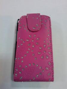 Pouzdro Sligo Cyrkonia pro HTC Desire 300 růžové