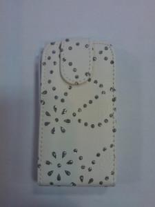 Pouzdro Sligo Cyrkonia pro HTC Desire 300 bílé