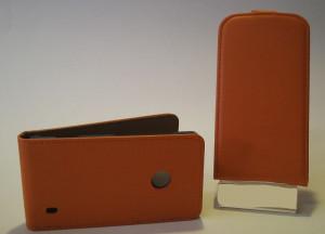 Pouzdro Slim Flip Case 2 Samsung S7560/S7562 oranžové