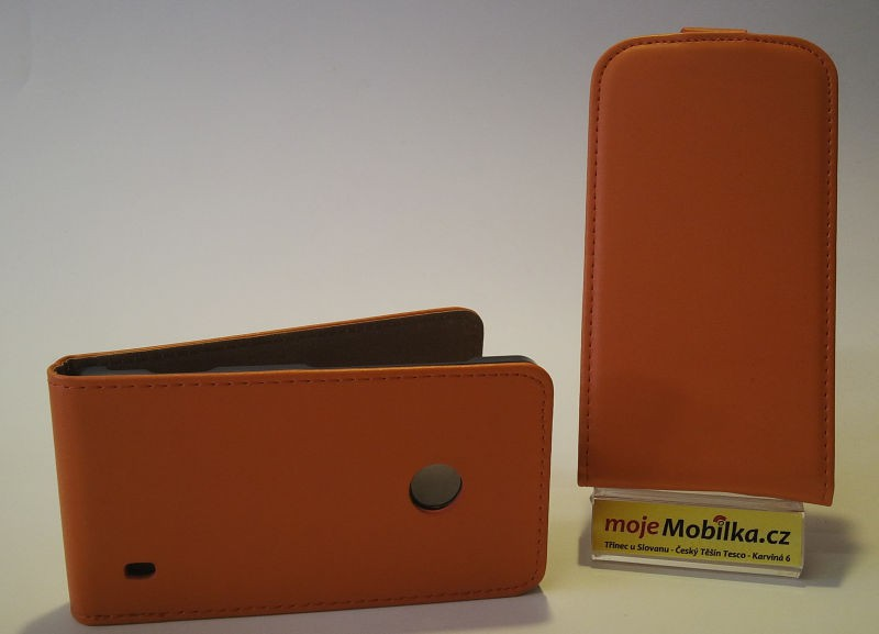 Pouzdro Slim Flip Case 2 Samsung S7580/S7582 oranžové