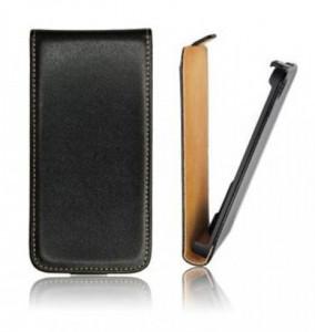Pouzdro ForCell Slim Flip HTC One M8 černé