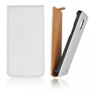 Pouzdro Forcell Slim 2 Flip Case Samsung Galaxy Trend S7560 bílé