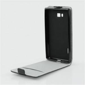 Pouzdro ForCell Slim Flip Flexi Huawei P8 Lite černé