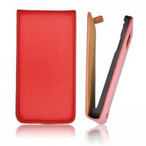 Pouzdro ForCell Slim flip Nokia 301 Asha červené