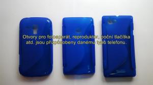 Silikonové pouzdro S-Line Case pro LG G3 D855 modré
