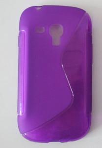Silikonové pouzdro S-Line Case pro Samsung S7560/S7562 fialové