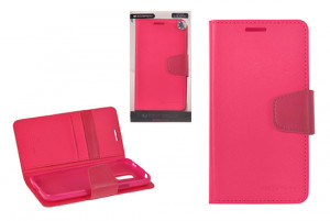 Pouzdro Sonata Goospery Leather Flip Samsung G900 G903 Galaxy S5 Ružová