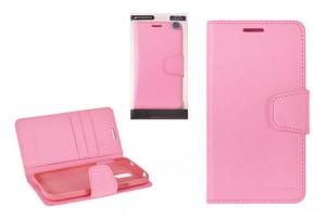 Pouzdro Sonata  Goospery Leather Flip Samsung G900 G903 Galaxy S5 Světle Růžové
