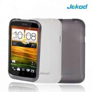 JEKOD TPU Ochranné Pouzdro White pro HTC Desire 200