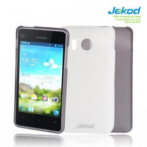 JEKOD TPU Ochranné Pouzdro White pro Huawei Y300