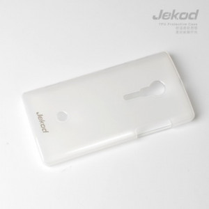 JEKOD TPU Ochranné Pouzdro White pro Sony Xperia Ion
