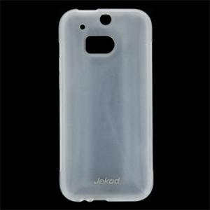 Pouzdro JEKOD TPU Ochranné HTC ONE M8 bílé