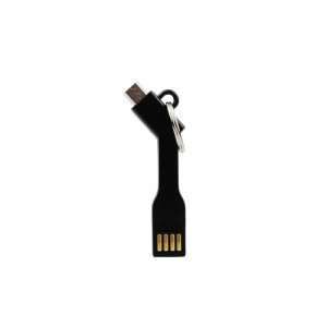 Univerzální datový kabel Brelok USB - MICRO USB - černý