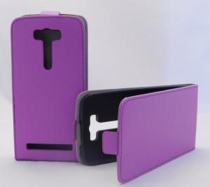 Pouzdro Forcell Slim Flip flexi Asus ZenFone C ZC451CG Fialové