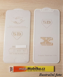 Full Glue 5D tvrzené sklo Xiaomi Redmi 6 / Redmi 6A Bílé 23565