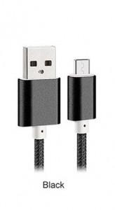 Metalic cable 1M typ C Black