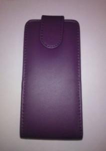 Pouzdro Sligo Classic pro Nokia Asha 208 Tmavě fialové