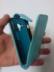 Pouzdro Sligo Classic pro Nokia 301 Light Blue